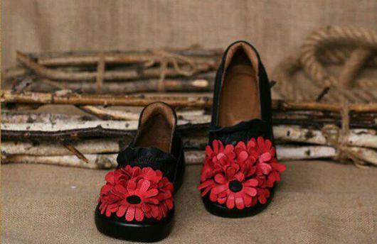 Обувь ручной работы. Ярмарка Мастеров - ручная работа. Купить Туфли 7. Handmade. Туфли, бохо-стиль, кожа