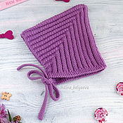 Работы для детей, handmade. Livemaster - original item children`s wool cap for girls knitted warm lilac. Handmade.