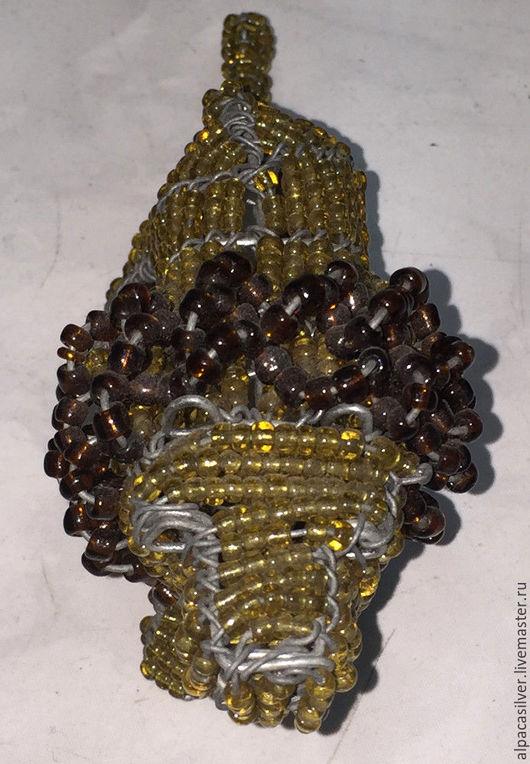 Статуэтки ручной работы. Ярмарка Мастеров - ручная работа. Купить Лев из проволоки и бисера, статуэтка, выполненная вручную. Handmade. Золотой