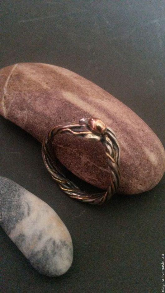 Кольца ручной работы. Ярмарка Мастеров - ручная работа. Купить NUOVA VITA Кольцо (Золото, серебро). Handmade. Серебряный