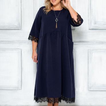 Одежда ручной работы. Ярмарка Мастеров - ручная работа Нарядное платье большого размера. Handmade.