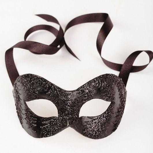 """Карнавальные костюмы ручной работы. Ярмарка Мастеров - ручная работа. Купить Карнавальная маска """"Мистеро"""" Черный Глиттер. Handmade. карнавал"""