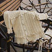 Работы для детей, ручной работы. Ярмарка Мастеров - ручная работа Крестильный комплект винтажный. Handmade.