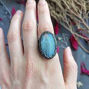 Украшения handmade. Livemaster - original item Copper ring with agate 2. Handmade.