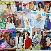Выкройки для шитья ручной работы. Ярмарка Мастеров - ручная работа Журналы Neue Mode разных годов 80-90e. Handmade.