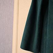 """Одежда ручной работы. Ярмарка Мастеров - ручная работа Замшевое платье цвета """"Бискайский залив"""". Handmade."""