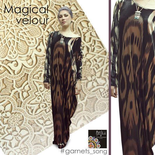 """Платья ручной работы. Ярмарка Мастеров - ручная работа. Купить платье """"Магия велюра"""". Handmade. Черный, платье, платье в пол"""