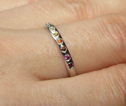 Кольца ручной работы. Ярмарка Мастеров - ручная работа. Купить Кольцо на годовщину свадьбы, золото, драгоценные камни. Handmade.