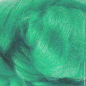"""Материалы для творчества ручной работы. Ярмарка Мастеров - ручная работа шелк Тусса окрашеный цвет """"Зеленая миля"""" 10 грамм. Handmade."""