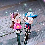 Посуда handmade. Livemaster - original item A set of teaspoons Gravity falls (Mabel and Dipper). Handmade.