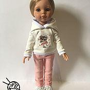 Одежда для кукол ручной работы. Ярмарка Мастеров - ручная работа Джинсы и толстовка для кукол Паола Рейна. Handmade.
