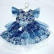 Работы для детей, ручной работы. Ярмарка Мастеров - ручная работа платье Снежинка. Handmade.