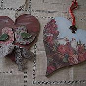 Для дома и интерьера ручной работы. Ярмарка Мастеров - ручная работа Подвеска-сердце в ассортименте. Handmade.