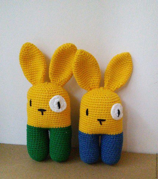 Игрушки животные, ручной работы. Ярмарка Мастеров - ручная работа. Купить Двуногий заяц. Handmade. Комбинированный, подарок, хлопок с акрилом