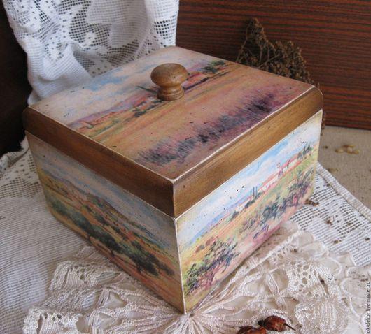 Корзины, коробы ручной работы. Ярмарка Мастеров - ручная работа. Купить Короб  Под солнцем Тосканы. Handmade. Короб