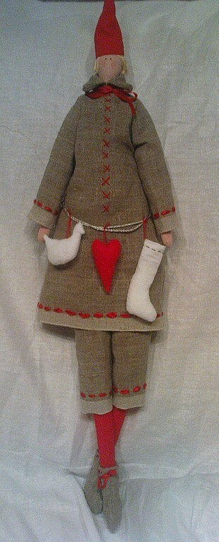 Куклы Тильды ручной работы. Ярмарка Мастеров - ручная работа. Купить Хранитель домашнего очага. Handmade. Ярко-красный