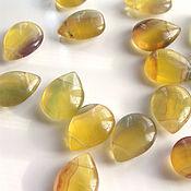 Материалы для творчества handmade. Livemaster - original item Yellow fluorite beads drops briolette. Handmade.