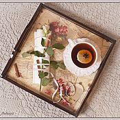 """Для дома и интерьера ручной работы. Ярмарка Мастеров - ручная работа Поднос """"Старые письма"""". Handmade."""