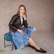 Одежда handmade. Livemaster - original item Skirts: Azul. Handmade.