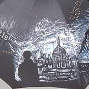 """Аксессуары ручной работы. Ярмарка Мастеров - ручная работа """"Шерлок"""" зонт с рисунком ручная роспись по мотивам сериала. Handmade."""