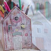 Для дома и интерьера ручной работы. Ярмарка Мастеров - ручная работа Домик-карандашница. Handmade.