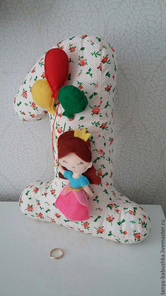 Детская ручной работы. Ярмарка Мастеров - ручная работа. Купить Подушка Единичка. Handmade. Игрушка, игрушка на заказ, подушка