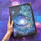Канцелярские товары handmade. Livemaster - original item Space notebook. Handmade.