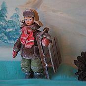 """Елочные игрушки ручной работы. Ярмарка Мастеров - ручная работа Елочные игрушки: Ватная игрушка """"Алёшка"""". Handmade."""