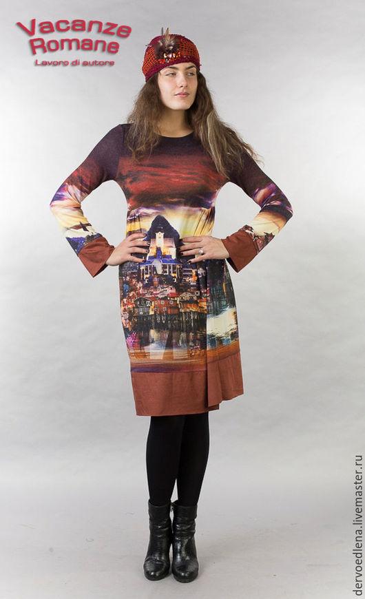 Платья ручной работы. Ярмарка Мастеров - ручная работа. Купить Vacanze Romane-1066. Handmade. Авторская ручная работа, рисунок