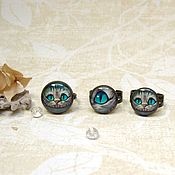 Украшения handmade. Livemaster - original item Vintage Ring Cheshire cat Alice in Wonderland in Different Sizes. Handmade.