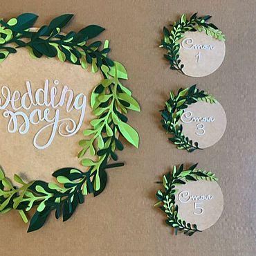 Свадебный салон ручной работы. Ярмарка Мастеров - ручная работа Карточки рассадки гостей . Рассадочные карточки. Handmade.
