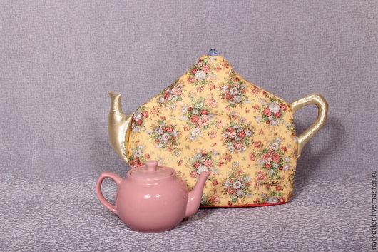 Кухня ручной работы. Ярмарка Мастеров - ручная работа. Купить Грелка для чайника УТРО ПРИНЦЕССЫ. Handmade. Лимонный, букетик