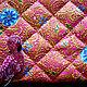 Женские сумки ручной работы. Ярмарка Мастеров - ручная работа. Купить Косметичка Золотые капельки в розовом закате. Handmade. Розовый