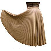Одежда ручной работы. Ярмарка Мастеров - ручная работа Юбка-гофре беж. Handmade.