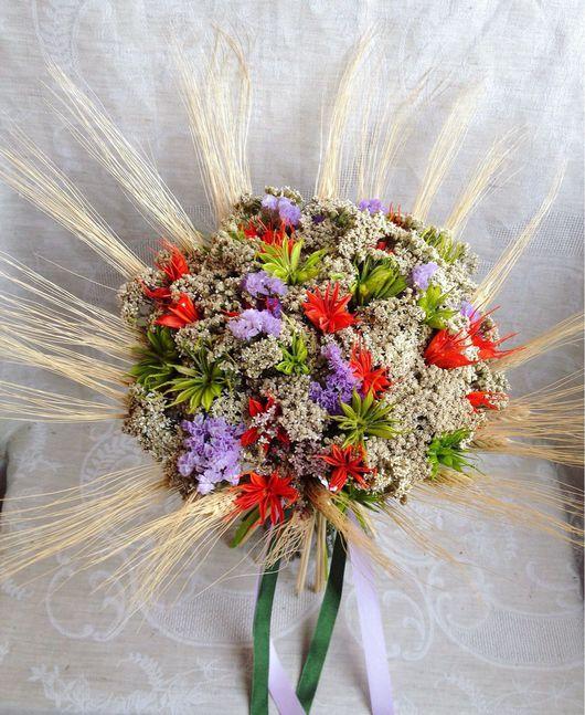 """Букеты ручной работы. Ярмарка Мастеров - ручная работа. Купить Букет """"Нигелла и тысячелистник"""". Handmade. Сухоцветы, букет цветов"""