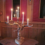 Для дома и интерьера ручной работы. Ярмарка Мастеров - ручная работа Подсвечник из дерева. Handmade.