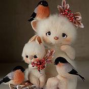 Куклы и игрушки ручной работы. Ярмарка Мастеров - ручная работа Малыши и снегири. Зимние деньки.. Handmade.