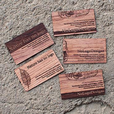 Дизайн и реклама ручной работы. Ярмарка Мастеров - ручная работа Эксклюзивные визитки из экзотических пород дерева. Бубинга. Handmade.