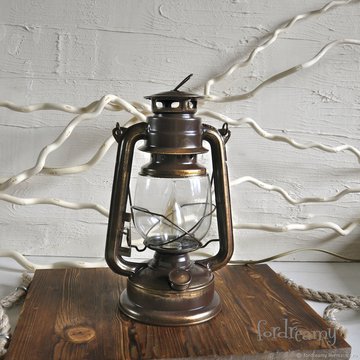 Table kerosene lamp retro loft brown with edison bulb shop online on livemaster with shipping cfm1xcom moscow