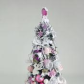 Подарки к праздникам ручной работы. Ярмарка Мастеров - ручная работа Елка для принцессы бело-розовая. Handmade.