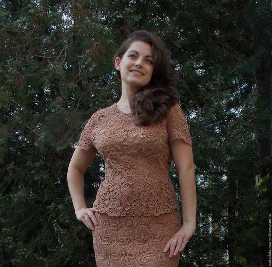 """Костюмы ручной работы. Ярмарка Мастеров - ручная работа. Купить Костюм """"Леди"""", костюм женский деловой, летнее платье, вязаное платье. Handmade."""