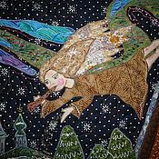 """Картины и панно ручной работы. Ярмарка Мастеров - ручная работа Панно """" Рождественская история"""". Handmade."""