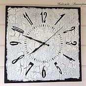 """Часы классические ручной работы. Ярмарка Мастеров - ручная работа Часы настенные 40см """"Монохром-3"""". Handmade."""