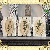 Картины и панно ручной работы. Ярмарка Мастеров - ручная работа Панно-триптих Травы Прованса. Handmade.