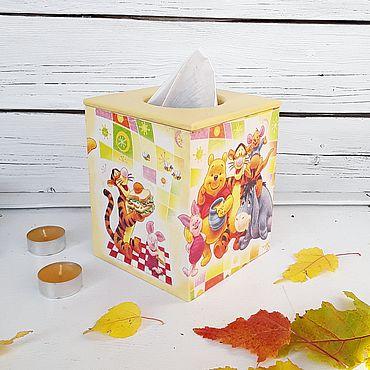 Для дома и интерьера ручной работы. Ярмарка Мастеров - ручная работа Винни Пух и друзья, короб для салфеток. Handmade.