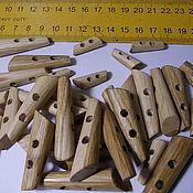 Материалы для творчества ручной работы. Ярмарка Мастеров - ручная работа деревянная пуговица. Handmade.