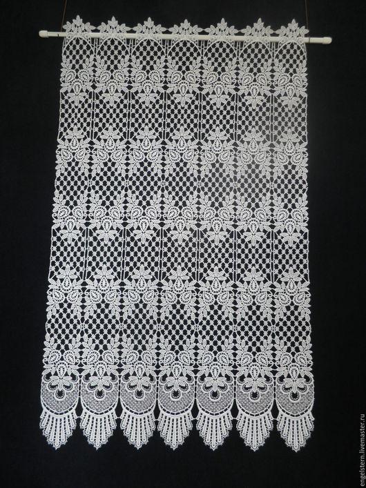 """Текстиль, ковры ручной работы. Ярмарка Мастеров - ручная работа. Купить Кружевной ламбрекен """"Белый ажур"""". Handmade. Шторы для гостиной"""