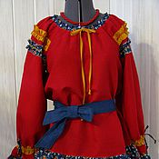 Одежда handmade. Livemaster - original item Blouse in Russian style. Handmade.