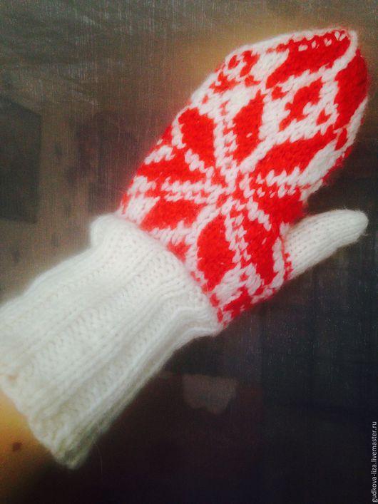 Варежки, митенки, перчатки ручной работы. Ярмарка Мастеров - ручная работа. Купить Варежки. Handmade. Комбинированный, зимний аксессуар, спицами