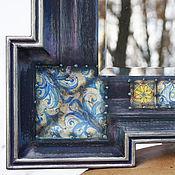 """Для дома и интерьера ручной работы. Ярмарка Мастеров - ручная работа Большое зеркало в деревянной раме (по мотивам работы """"Наследие""""). Handmade."""